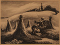Fine Art - Work on Paper:Print, Thomas Hart Benton (American, 1889-1975). Loading Corn,1945. Lithograph. 9-1/2 x 12-3/4 inches (24.1 x 32.4 cm). Signed...