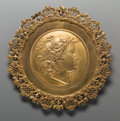 Decorative Arts, French:Other , A Large Gilt Bronze Classical Plaque. 19-3/4 inches diameter (50.2cm). ...