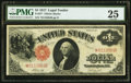 Large Size:Legal Tender Notes, Fr. 37* $1 1917 Legal Tender Star Note PMG Very Fine 25.. ...