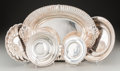Silver Holloware, Continental:Holloware, Four Silver-Plated and One Silver Serving Dish, 20th century .Marks: (various). 11-3/4 inches high x 16-1/2 inches wide (29...(Total: 5 Items)