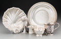 Silver & Vertu:Hollowware, Six Various American Silver and Coin Silver Tablewares, 19th century and later. Marks: (various). 10-1/8 inches diameter (25... (Total: 6 Items)