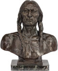 Fine Art - Sculpture, American, After Charles Schreyvogel (American, 1861-1912). WhiteEagle, 1899. Bronze with brown patina. 20 inches (50.8 cm) higho...