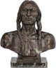 After Charles Schreyvogel (American, 1861-1912) White Eagle, 1899 Bronze with brown patina 20 inches (50.8 cm) high o