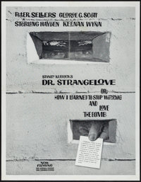 "Dr. Strangelove or: How I Learned to Stop Worrying and Love the Bomb (Columbia, 1964). Exhibitor Poster (17.5"" X 22..."