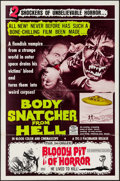 "Movie Posters:Horror, Body Snatcher from Hell/Bloody Pit of Horror Combo (Pacemaker,1969). One Sheet (27"" X 41""). Horror.. ..."