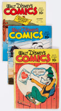 Golden Age (1938-1955):Cartoon Character, Walt Disney's Comics and Stories Group of 16 (Dell, 1941-46)Condition: Average FR/GD.... (Total: 16 Comic Books)