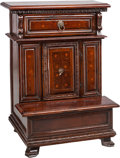 Furniture : Continental, An Italian Carved Walnut and Fruitwood Prie Dieu. 36 h x 26-3/4 w x19 d inches (91.4 x 67.9 x 48.3 cm). ... (Total: 2 Items)