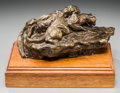 Fine Art - Sculpture, American:Contemporary (1950 to present), George Dick (American, 1916-1978). Mountain Lions, 1969.Bronze with brown patina. 6 inches (15.2 cm) high. Ed. 21/30. I...