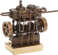 Miscellaneous, Miniature Twin-Drive Reverse Nautical Engine. 7 x 6 x 2-1/2 inches(17.8 x 15.2 x 6.4 cm). An unusually small scale vintage ...