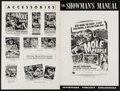 """Movie Posters:Science Fiction, The Mole People & Other Lot (Universal International, 1956).Uncut Pressbooks (2) (Multiple Pages, 12"""" X 18""""). Scienc..."""