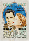 "Movie Posters:Academy Award Winners, Casablanca (Warner Brothers, R-1966). Uncut Spanish Theater Coupons (8.25"" X 11.5"") Academy Award Winners.. ..."