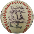 Autographs:Baseballs, 1984 Toronto Blue Jays Team Signed Baseball. Nineteen signaturesfrom the 1984 Toronto Blue Jays are offered here on the su...