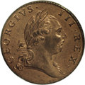 Colonials: , 1773 1/2P Virginia Halfpenny, Period MS64 Red PCGS. Breen-180. Very well struck for this popular Colonial issue, with surfa...