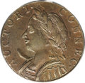 Colonials: , 1787 COPPER Connecticut Copper, Horned Bust AU55 PCGS. M. 4-L. The horn is present and attached to the bust on this later d...