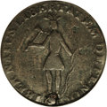 1787 COPPER New York Excelsior Copper, Indian and New York Arms--Holed, Scratched--NCS. Fine Details. Indian & N.Y...