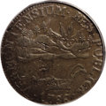 Colonials: , 1786 COPPER Vermont Copper, VERMONTENSIUM AU53 PCGS. RR-6, Bressett 4-D, R.2. A late state of the reverse die, with a large...