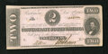 Confederate Notes:1862 Issues, T54 $2 1862. Light handling and a pinhole are observed. AboutUncirculated....