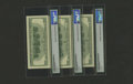 Error Notes:Third Printing on Reverse, Fr. 2175-D $100 1996 Federal Reserve Notes. PMG Gem Uncirculated 66 EPQ.. This lot features a middle note with its third pri... (Total: 3 notes)