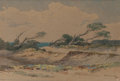 Fine Art - Painting, European, Christian Jorgensen (American, 1860-1935). The Dunes, 1893. Watercolor on paper. 2-3/8 x 3-3/8 inches (6.0 x 8.6 cm) (si...