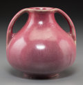 Ceramics & Porcelain, American:Modern  (1900 1949)  , A Fulper Arts & Crafts Fuchsia Glazed Ceramic Two-Handled Vase,Flemington, New Jersey, early 20th century. Marks: FULPER...