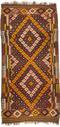 "Rugs & Textiles:Carpets, An Ethnographic Wool Kilim Carpet. 7 feet-7 inches x 15 feet.PROPERTY FROM THE ESTATE OF KENNETH S. ""BUD"" ADAMS JR.. ..."