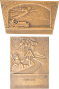 Bronze:European, Two Austrian Bronze Automobile Racing Plaques, circa 1925-1938.3-1/8 inches high x 2-1/4 inches wide (7.9 x 5.7 cm) (larger...(Total: 2 Items)