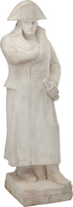 Decorative Arts, Continental:Other , A Carved Italian Carrara Marble Figure of Napoleon Bonaparte. 48inches (121.9 cm) high. ...