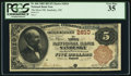 National Bank Notes:Ohio, Sandusky, OH - $5 1882 Brown Back Fr. 466 The Moss NB Ch. # 2810. ...