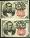 Fractional Currency:Fifth Issue, Two Fr. 1265 10¢ Fifth Issue Notes Choice New.. ... (Total: 2notes)