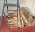 Fine Art - Painting, American, Richard Joseph (American, b. 1939). Ladder. Oil on canvas. 53 x 56-1/2 inches (134.6 x 143.5 cm). Signed and titled on t...