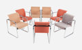 Furniture , A Group of Eight Peter Protzmann for Herman Miller Chrome-Plated Steel and Wool Upholstered Armchairs, circa 1960. 31-1/2 h ... (Total: 8 Items)