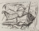 Elaine de Kooning (American, 1919-1989) Untitled (Horses), 1984 Charcoal on Rives BFK paper 22-1/4 x 28 inches (56.5