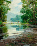 Fine Art - Painting, American:Contemporary   (1950 to present)  , Richard Alan Schmid (American, b. 1934). The River, 1965.Oil on canvas. 30 x 24 inches (76.2 x 61.0...
