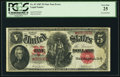 Error Notes:Large Size Inverts, Fr. 87* $5 1907 Legal Tender PCGS Very Fine 25.. ...