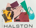 Fine Art - Work on Paper:Print, After Andy Warhol . Halston Advertising Campaign Poster (Women'sAccessories), 1982. Screenprint in colors on paper. 22-...