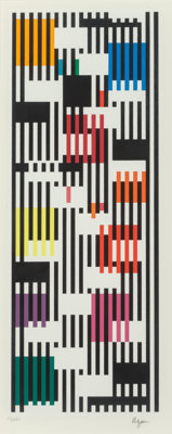 Yaacov Agam (b. 1928) Untitled, from the Tapestry Suite, n.d. Screenprint in colors on wove paper