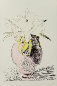 Andy Warhol (1928-1987) Flowers (Hand-Colored), 1974 Screenprint with handcoloring on Arches paper