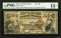 National Bank Notes:Pennsylvania, Mercer, PA - $100 1882 Brown Back Fr. 519 The First NB Ch. # 392. ...