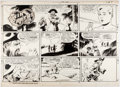 Al McWilliams Twin Earths Sunday Comic Strip Original Art dated 5-5-57 (United F Comic Art