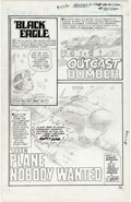 Dick Ayers All-Out War #8 (Unpublished) Partial Story Original Art Group of 11 ( Comic Art