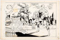 Original Comic Art:Splash Pages, Dave Hunt Super Spider-Man #171 Splash Page 1 Original Art(Marvel UK, 1976)....