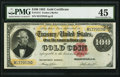 Large Size:Gold Certificates, Fr. 1214 $100 1882 Gold Certificate PMG Choice Extremely Fine 45.....
