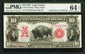 Large Size:Legal Tender Notes, Fr. 121m $10 1901 Mule Legal Tender PMG Choice Uncirculated 64EPQ.. ...