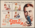 "Movie Posters:Action, Code 7, Victim 5 & Other Lot (Columbia, 1964). Half Sheet (22""X 28""), Lobby Card Set of 8, Title Lobby Card & Lobby Card(1... (Total: 11 Items)"