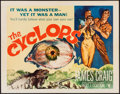 "Movie Posters:Horror, The Cyclops (RKO, 1957). Half Sheet (22"" X 28""). Horror.. ..."