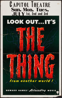 """The Thing from Another World (RKO, 1951). Window Card (14"""" X 22""""). Science Fiction"""