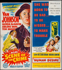 """Scene of the Crime & Other Lot (MGM, 1949). Trimmed Australian Daybill (13.25"""" X 29"""") & Austra..."""