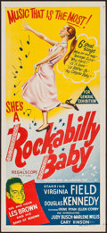 "Movie Posters:Rock and Roll, Rockabilly Baby & Others Lot (20th Century Fox, 1957). Australian Daybills (2) (13.25"" x 30"", 13.5"" X 30"") & Trimmed Daybill... (Total: 3 Items)"