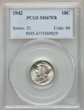 Mercury Dimes: , 1942 10C MS67 Full Bands PCGS. PCGS Population: (201/8). NGC Census: (229/1). CDN: $210 Whsle. Bid for problem-free NGC/PCG...