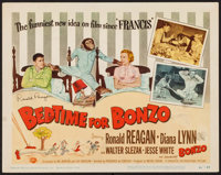 """Bedtime for Bonzo (Universal International, 1951). Autographed Title Lobby Card (11"""" X 14""""). Comedy"""
